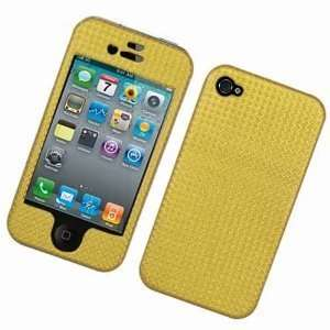 Golden Brown Solid Color Fabric Apple Iphone 4 Gen / 4th