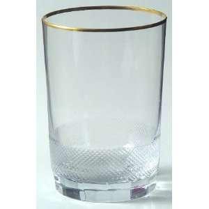 Moser Royal (Gold Trim) Flat Tumbler, Crystal Tableware