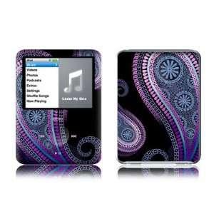 Morado (Purple Paisley) Design Protective Decal Skin Sticker for Apple