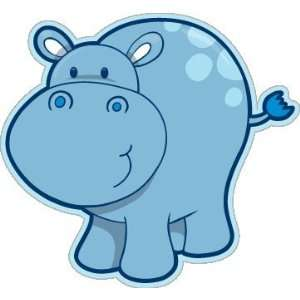 Hippopotamus kids lovely car bumper sticker decal 5 x 5