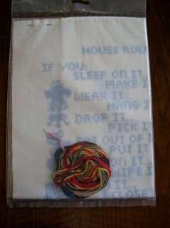 VTG HOUSE RULES SAMPLER cross stitch embroidery kit NEW