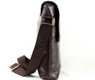 Mens BOLO Brown Leather Shoulder Messenger Fashion Bag Briefcase New