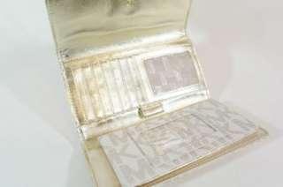 New Michael Kors MK Logo White PVC Checkbook Wallet