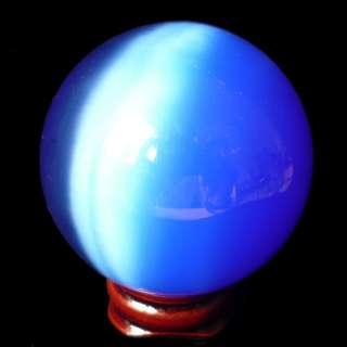 50mm Charming cat eye ball sphere decoration dark blue