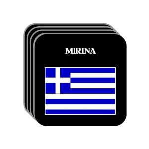 Greece   MIRINA Set of 4 Mini Mousepad Coasters