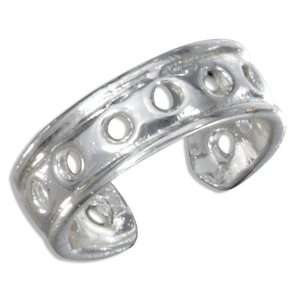 Sterling Silver Continuous Open Circle Toe Ring Jewelry