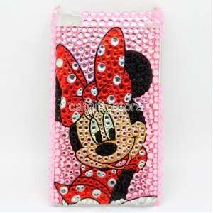 Minny Minnie Mouse Diamond Bling Hard Case Cover Skin for