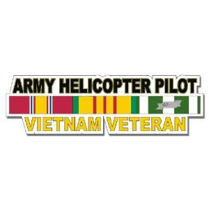 US Army Helicopter Pilot Vietnam Veteran Window Strip Decal Sticker 8