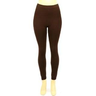 Winter Thinsulate Fleece Lined Leggings Stretch Tights Brown