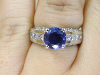 Beautiful Genuine Diamond & Sapphire 18K Gold Ring Band