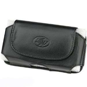 Black Executive Leather Case Pouch for Blackberry Storm