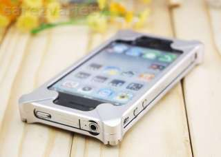 DURABLE ALUMINUM METAL HARD CASE COVER FULL BODY FOR IPHONE 4 4S