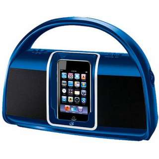 Portable iPod/iPhone Boombox AM/FM Stereo Radio Dock Bi100BU Docking