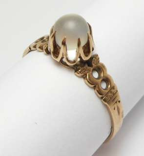 VICTORIAN ROSE GOLD MOONSTONE CRYSTAL BALL RING $❶NR