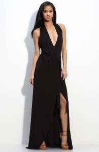 645 Diane Von Furstenberg Italiana Maxi Wrap Long Halter Dress
