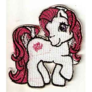 My Little Pony white horse Embroidered Iron On / Sew On