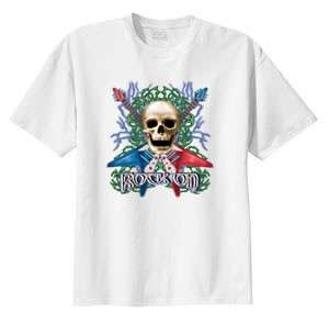 Rock On Guitar Skull T Shirt S 6x  Choose Color