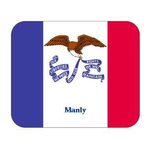 US State Flag   Manly, Iowa (IA) Mouse Pad Everything
