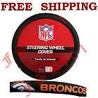 New NFL Denver Broncos Car Truck Steering Wheel Cover