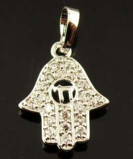 Pcs Ladys White Gems 14k Real White Gold Filled Pendant JNP021