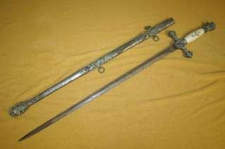 Masonic Knights Templar Fraternal SwordM.C. LILLEY SWORD CO