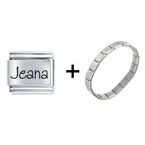 Name Jeana Italian Charm: Pugster: Jewelry