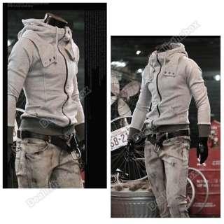 Mens Slim Fit Designed Hoodie Coat Jacket Sweatshirt