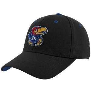 Top of the World Kansas Jayhawks Black Basic Logo 1 Fit Hat