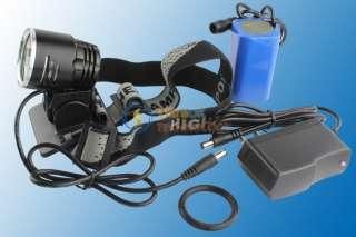 1800Lm CREE XM L T6 LED Bicycle Bike Light Headlamp+ Battery Pack + AC