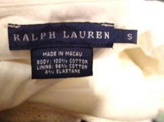 RALPH LAUREN White Crochet Ruffle Knit Halter Top