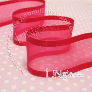 25YD Satin Edge Organza Wedding Party Favor Ribbon