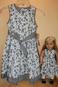 Matching Dress For American Girl Doll 18 Black 6 6X 7