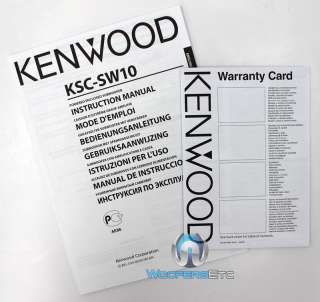 KENWOOD KSC SW10 POWERED AMPLIFIER CAR AMP 2 SUBWOOFERS 5x7 SPEAKER