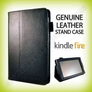 Leather Stand Case Cover (Black) for  Kindle Fire eReader