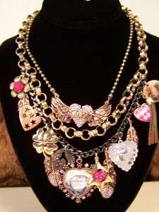 Authentic BETSEY JOHNSON Designer Cowgirl Rhinestone Charm Fashion