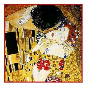 Art Nouveau Artist Gustav Klimts The Kiss   Detail Arts, Crafts