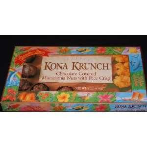 Hawaiian Sun Kona Krunch Chocolate Macadamia Nut Candies (6 Boxes