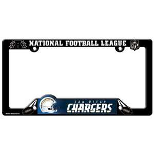 San Diego Chargers Black Plastic License Plate Frame