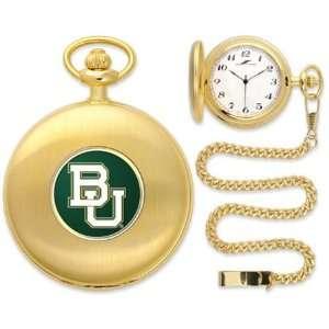 Baylor University Bears BU NCAA Gold Pocket Watch