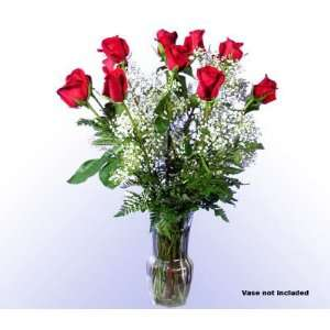 Dozen Real Fresh Red Roses:  Grocery & Gourmet Food