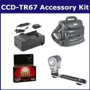 Sony CCD TR67 Camcorder Accessory Kit includes HI8TAPE Tape/ Media