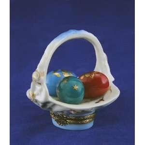 Easter Eggs in Basket French Trinket Limoges Box Atelier D