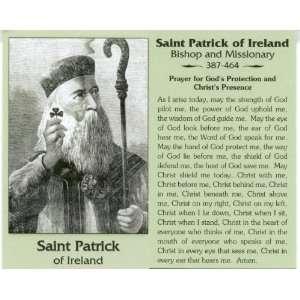Saint/St. Patrick of Ireland Holy Prayer Card Wallet Size
