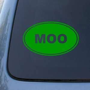 MOO   Cow Farm   Vinyl Car Decal Sticker #1542  Vinyl