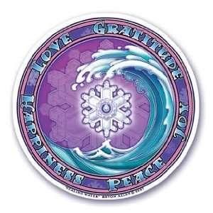 Arts Window Sticker Healing Water Wave Decal