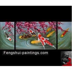 Art Feng Shui Painting Koi Fish Painting Japanese Koi Painting 3 Home