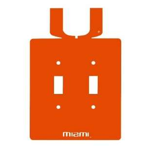 Miami Hurricanes Double Toggle Metal Switch Plate Cover