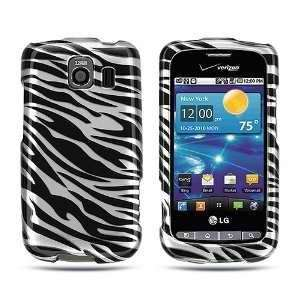 LG Vortex VS660 (Verizon) Black Silver Zebra Skin Premium Design Phone