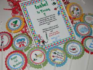 Cat in the hat invitations  Birthday/Baby Shower