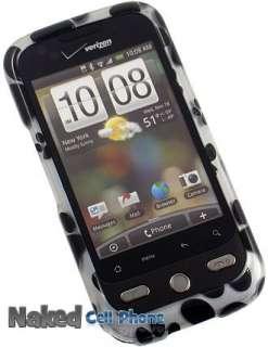 VERIZON HTC DROID ERIS PROTECTOR CASE   BLACK PAW PRINT DESIGN